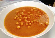 Banános paradicsomleves Gazpacho, Cantaloupe, Curry, Vegetables, Fruit, Food, Curries, Essen, Vegetable Recipes