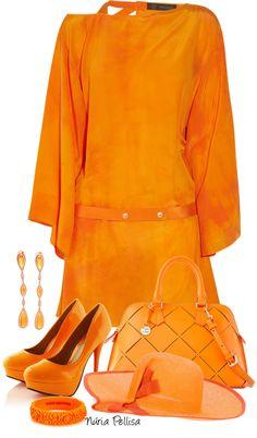 """""""Orange"""" by nuria-pellisa-salvado ❤ liked on Polyvore"""