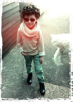 Fashion boy curly hair