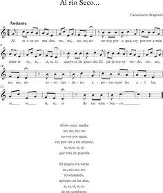 Al Río Seco. Canción Aragonesa
