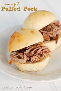 This Crock Pot Pulled Pork is so flavorful that it doesn't even need sauce. My family can't get enough of it!