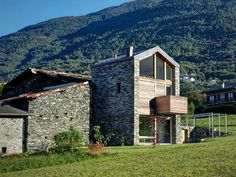 Mountain House Built on the Ruins of an Old Rustic