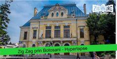 """Zig Zag prin Botosani - Hyperlapse  Unii îl numesc ''Orașul domnițelor"""". Alții, îl cunosc prin cei patru titani ai culturii: Iorga, Luchian,Eminescu și Enescu. Noi, îl ținem minte prin verdeață, oameni calzi, primitori și îl numim simplu: Botoșani! Titanic, Zig Zag, Romania, Mansions, House Styles, Manor Houses, Villas, Mansion, Palaces"""