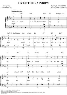 Over the Rainbow Sheet Music Preview Page 1