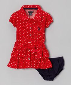 Ruby Ruffle Sash Shirt Dress - Girls by U.S. Polo Assn. #zulily #zulilyfinds