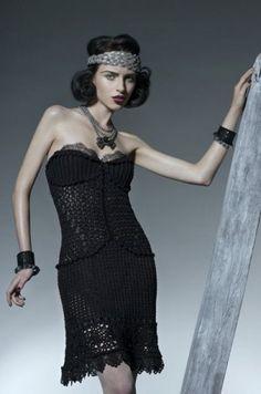 Vanessa Montoro presents crochet dresses in couture trunk show