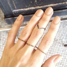 xiv karats rings...and nude nails by deborah lipmann