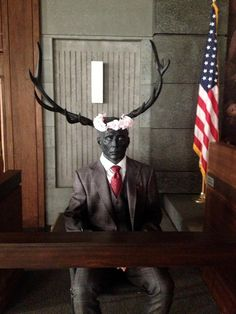 THE WENDIGO DEMONSTRATES HIS #FANNIBAL APPRECIATION WITH A FLOWER CROWN  and not even photoshopped