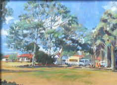 Afternoon Sun, Fitzroy North by Sheila Spencer winner of the Canson Award