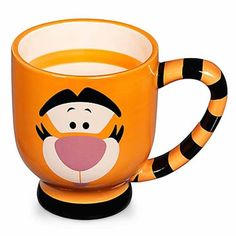 Tigger will certainly add plenty of bounce to your day with this oversized Tigger Mug! And just like Tiggers, this cup features colorful stripes! You'll be smiling just like Tigger every time you drin