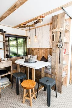 Caravan Makeover 429179039488296173 - Mountain lodge woonkamer Source by marionmarionber Home Renovation, Caravan Renovation, Caravan Living, Caravan Home, Remodeling Mobile Homes, Home Remodeling, Caravan Conversion, Caravan Makeover, Little White House