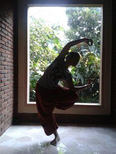 Yoga class at the morning.. and so early morning..*at 7 o'clock