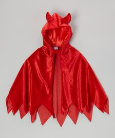 Look what I found on #zulily! Red Devil Dress-Up Hooded Cape by Story Book Wishes #zulilyfinds