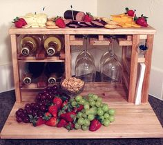 Wine and cheese party for 4 made from upcycled by HabitShmabit, $249.00