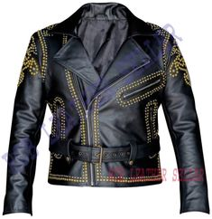 Studded Leather Jacket, Leather Blazer, Leather Men, Black Leather, Cowhide Leather, Leather Jackets For Sale, Jackets For Women, Lady Biker, Jacket Men