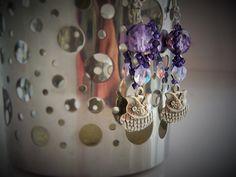 """Boucles d'oreille """"Hibou"""" : Boucles d'oreille par mademoiselle-topaze-bijoux"""