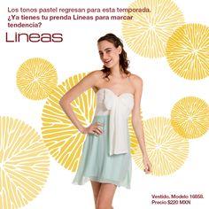 Los tonos pastel regresan esta temporada. #Lineas #outfit #moda #tendencias #2014 #ropa #prendas #estilo #primavera #outfit #vestido #pastel