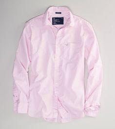 AE Solid Poplin Shirt