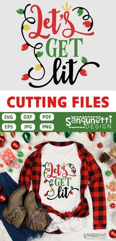 Lets get lit funny Christmas SVG cutting files Great for your shirts and other holiday projects. Just be sure your cutting machine and software are SVG or DXF compatible. Cricut Christmas Ideas, Christmas Vinyl, Funny Christmas Shirts, Christmas Projects, Christmas Humor, Christmas Phrases, Frugal Christmas, Christmas Outfits, Lets Get Lit