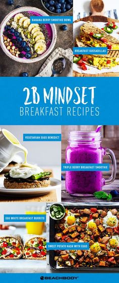 Mindset Weight Loss Mindset Recipes - Mindset can help you eat healthy without feeling deprived. Get started with these tasty and delicious Mindset recipes for breakfast! Nutrition Day, Sport Nutrition, Nutrition Store, Nutrition Quotes, Pregnancy Nutrition, Holistic Nutrition, Nutrition Plans, Vegetarian Breakfast Recipes, Healthy Recipes