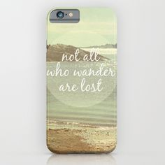Lord of the Rings Not All Those Who Wander Are Lost Quote iphone case, smartphone