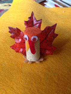 Thanksgiving wine cork turkey!