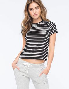 FULL TILT Striped Womens Fitted Tee
