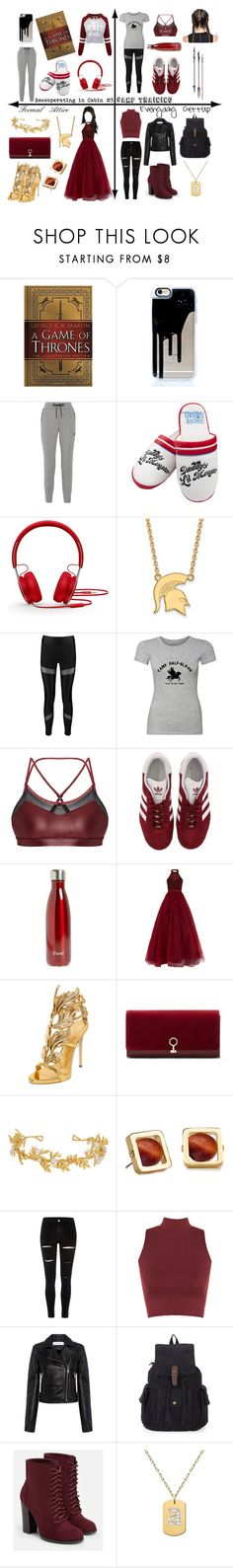 """""""Daughter of Ares"""" by tiffany-du-plessis ❤ liked on Polyvore featuring NIKE, Beats by Dr. Dre, LogoArt, Ultimate, Boohoo, Koral, adidas, S'well, Jovani and Giuseppe Zanotti"""