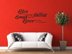 Wall Sticker Decal Quote Vinyl Lettering Adhesive Graphic Live Laugh Love (J72) via Etsy