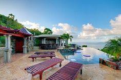 Infinity pool at this St John vacation villa