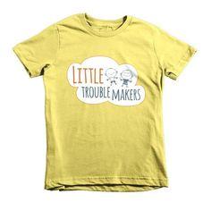 Short Sleeve Kids Little TroubleMakers T-shirt