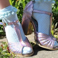 """418 Likes, 4 Comments - IRON FIST CLOTHING (OFFICIAL) (@ironfistclothing) on Instagram: """"Mermaids only. NEW Mother Of Pearls Heels and Sandals available in iridescent pink and black. (Shop…"""" #holographic #mermaid #holo"""