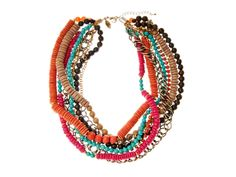 Bright Multi Strand Tribal Necklace