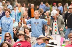 The crowd takes in a Joan Baez show for Esalen's 50th Birthday