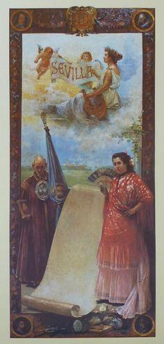Cartel de Las Fiestas de Primavera de Sevilla 1901