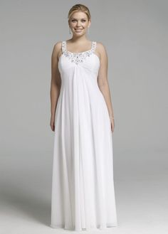 Rhinestone Sequin Chiffon Dress - David's Bridal - mobile