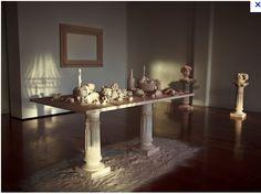 A decadent feast table
