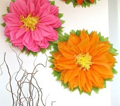 TROPICAL BLOOM. 7 Giant Paper Flowers wedding baby / bridal