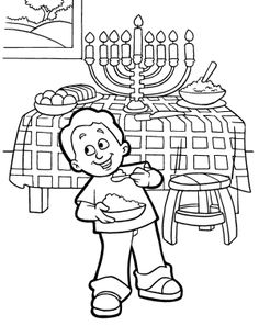 mini coloring pages of hanukkah - photo#3