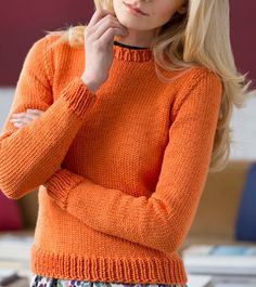 Solid Staple Sweater | AllFreeKnitting.com You'll reach for this knit sweater pattern again and again. Let this Solid Staple Sweater become your new favorite!