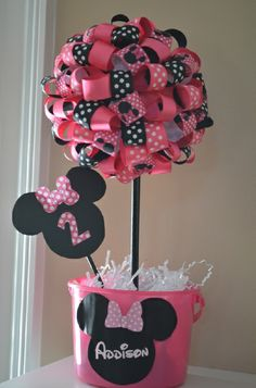 Erica F's Birthday / Mickey Mouse Clubhouse or Minnie Mouse - Photo Gallery at Catch My Party Mickey Mouse Clubhouse Birthday Party, Minnie Mouse Theme, Mickey Party, Mickey Mouse Birthday, First Birthday Parties, Birthday Party Themes, Birthday Ideas, 3rd Birthday, Mouse Parties