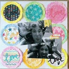 Love the circles and fun colours of the Bella Blvd Lucky Starz collection. My Scrapbook, Scrapbook Layouts, Online Paper, Craft Stores, How To Introduce Yourself, Nerd, Paper Crafts, Colours, Birthday