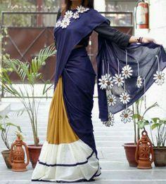 How to wear a scarf as a top patterns Ideas for 2019 Choli Blouse Design, Sari Design, Saree Blouse Neck Designs, Saree Blouse Patterns, Black Lace Bridesmaid Dress, Bridesmaid Saree, Saree Dress, Dhoti Saree, Drape Sarees