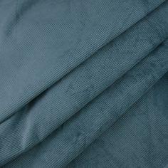 Tissu velours milleraies bleu-gris