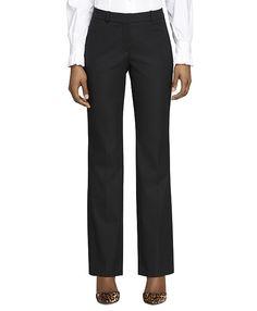 Wool Stretch Caroline Fit TrousersBlack; Brooks Brothers