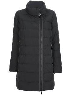 MONCLER - black or dark grey long padded jacket with zip #moncle #monclerjackets #paddedjacket #monclerwomen