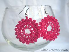 Crochet Earrings and Giveaway