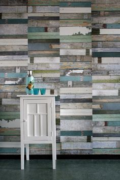Still a massive fan of the feature wallpapered wall... this would be incredible for a small panel in your bathroom, teamed with washed white furniture and white or off-white walls.
