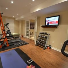 Awesome Finished Basement Home Gyms, Fitness Rooms, Yoga Studios