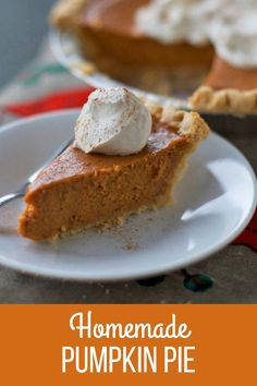 The best homemade pumpkin pie recipe! Tried and tested over and over again with zero cracking! This will become your go-to pumpkin pie recipe. Best Pumpkin Pie Recipe, Homemade Pumpkin Pie, Baked Pumpkin, Fall Dessert Recipes, Thanksgiving Desserts, Fall Desserts, Dessert Ideas, Eat Seasonal, Pumpkin Dessert